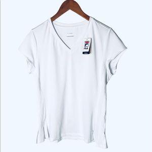 Fila white perform golf short sleeves top